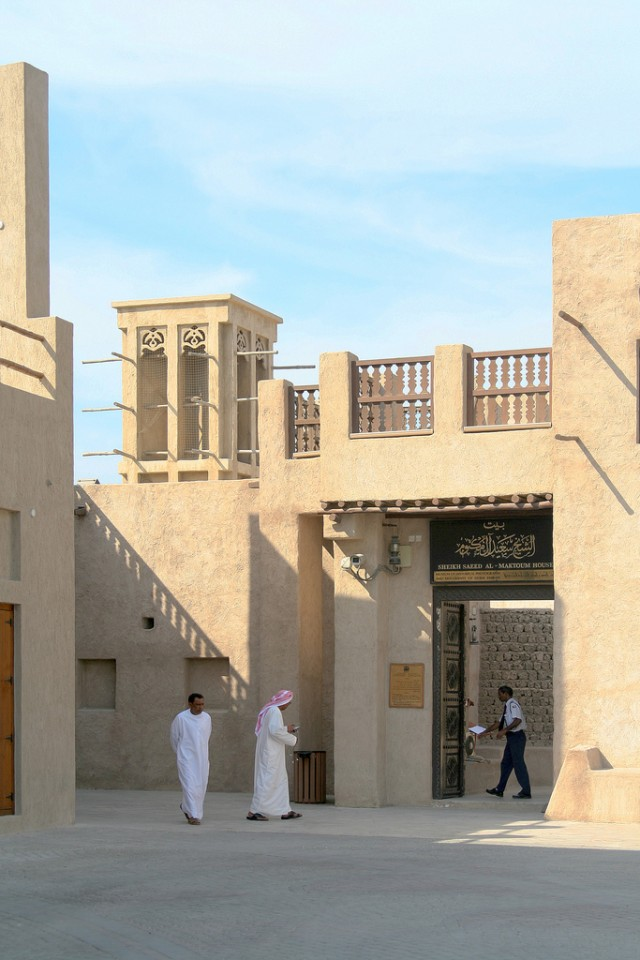 The house of Sheik Saeed bin Maktoum Al-Maktoum