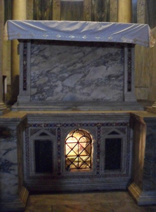 The altar and confessio at San Giorgio al Velabro
