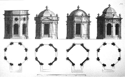Fig. 3: Plate 81, Book of Architecture, by James Gibbs.