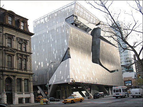 The new Cooper Union building, by architect Thom Mayne. Is that a distortion