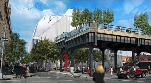 Renzo Piano's proposed scheme for the Whitney