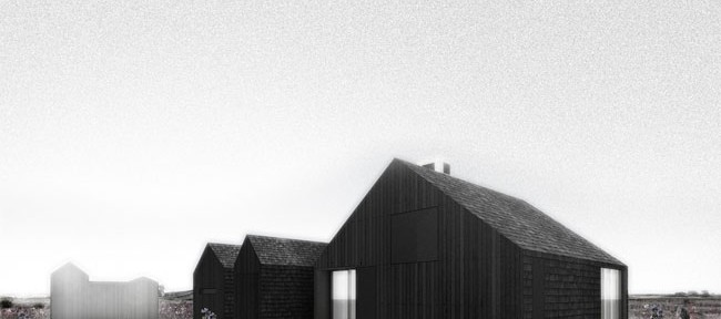 Shingle House, NORD. [Bizarre is a good word for the house too. Impossible to see this as beautiful. It's just not.]