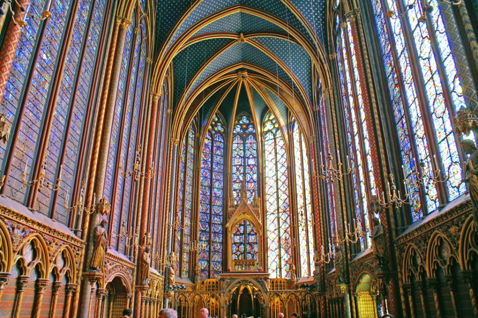 The Sainte Chapelle, Paris, France.