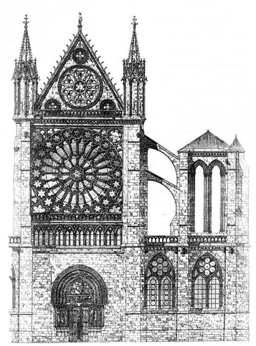 The North Transept of the Cathedral Basilica of St. Denis.