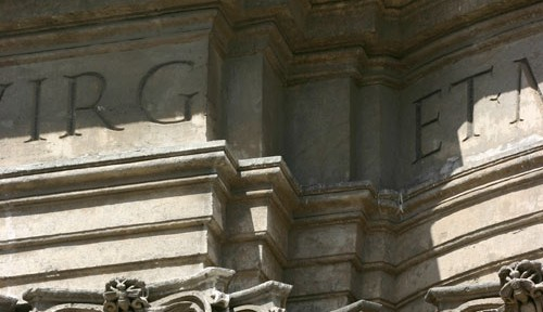 Pilaster pile-up. Note the bee in the Ionic capital. It is the symbol of the Barberini family.