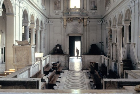 View from the high altar looking toward the east (as Mass ad orientem would be said).