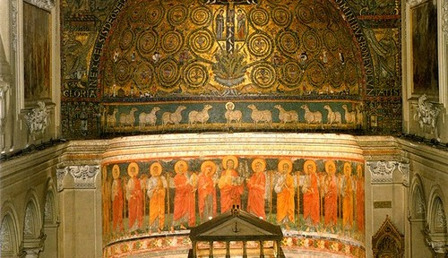 The apse. The cathedra is partially visible over the altar.