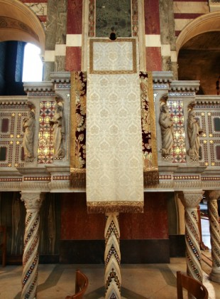 The Cosmatesque ambo at Westminster Cathedral