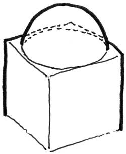 A dome set on a cube.