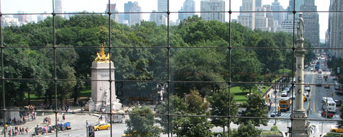 The view from the Time Warner Center
